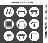 line icon set with artistic... | Shutterstock .eps vector #588707252