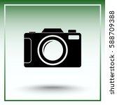 photo camera sign icon  vector... | Shutterstock .eps vector #588709388