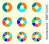 circle chart set. round pie... | Shutterstock .eps vector #588711242