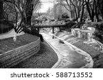 A Frozen Water Stream  Path...