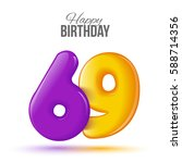 sixty nine birthday greeting... | Shutterstock .eps vector #588714356