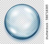 big translucent light blue... | Shutterstock .eps vector #588718385