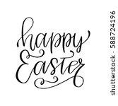 easter holiday celebration.... | Shutterstock .eps vector #588724196