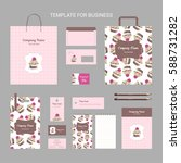 set of corporate identity for... | Shutterstock .eps vector #588731282
