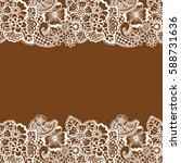 mehndi horizontal backrtound.... | Shutterstock .eps vector #588731636