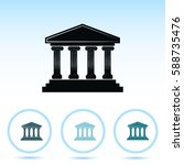 bank building icon | Shutterstock .eps vector #588735476