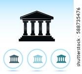 bank building icon   Shutterstock .eps vector #588735476