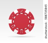 red casino chips. vector... | Shutterstock .eps vector #588735845