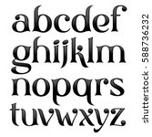 Vector Elegant Logo Font With...