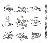 happy easter congratulations.... | Shutterstock .eps vector #588736388