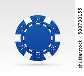 blue casino chips. vector... | Shutterstock .eps vector #588738155