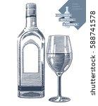 hand drawn vector illustration... | Shutterstock .eps vector #588741578