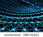 abstract technology network... | Shutterstock . vector #588741632