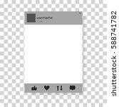 frame  social network. vector... | Shutterstock .eps vector #588741782