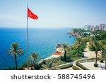 beautiful marine panorama of...   Shutterstock . vector #588745496