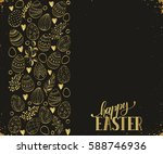 easter eggs composition hand... | Shutterstock .eps vector #588746936
