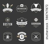 vintage logos design templates...   Shutterstock .eps vector #588747872