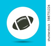 rugby ball icon. rugby ball...   Shutterstock .eps vector #588751226