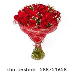 colorful flower bouquet from... | Shutterstock . vector #588751658