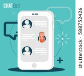 chatbot business concept. user... | Shutterstock .eps vector #588752426