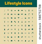 lifestyle icons set | Shutterstock .eps vector #588752708