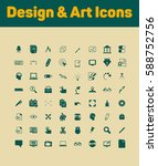 design and art icons set | Shutterstock .eps vector #588752756