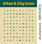 urban and city icons set | Shutterstock .eps vector #588752876