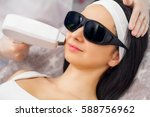 laser epilation and cosmetology....   Shutterstock . vector #588756962