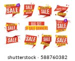 sale big set of beautiful... | Shutterstock .eps vector #588760382