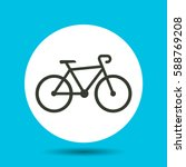 bike icon. flat vector... | Shutterstock .eps vector #588769208