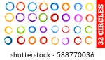 circle set. vector illustration.... | Shutterstock .eps vector #588770036