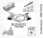 handshaking of two business men ... | Shutterstock .eps vector #588770432