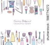 fashion cosmetics square... | Shutterstock .eps vector #588774272