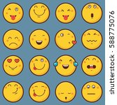emoticon vector illustration.... | Shutterstock .eps vector #588775076