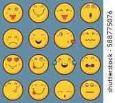 emoticon vector illustration.... | Shutterstock .eps vector #588775076