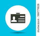 pass icon. flat vector... | Shutterstock .eps vector #588779828