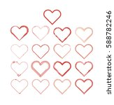 heart love set vector | Shutterstock .eps vector #588782246