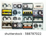collection of retro audio... | Shutterstock . vector #588787022