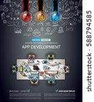 infograph brochure template... | Shutterstock . vector #588794585