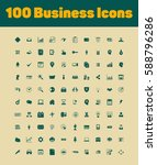 business icon set | Shutterstock .eps vector #588796286