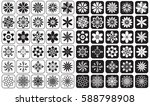 icons on white and black... | Shutterstock .eps vector #588798908