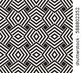 geometric ornament with striped ... | Shutterstock .eps vector #588802352