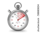 10 seconds. isolated stopwatch... | Shutterstock . vector #58880834