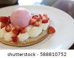 strawberries ice cream and... | Shutterstock . vector #588810752