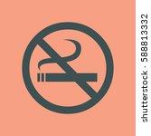 no smoking icon | Shutterstock .eps vector #588813332