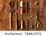 artisan tools for working with... | Shutterstock . vector #588813725