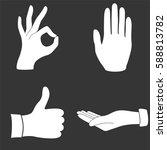 hand gestures icons set... | Shutterstock .eps vector #588813782