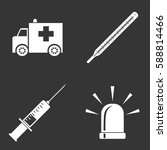 hospital icons set isolated on  ... | Shutterstock .eps vector #588814466