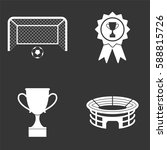football icons set isolated on  ... | Shutterstock .eps vector #588815726