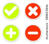 four isolated round buttons red ... | Shutterstock . vector #588815846